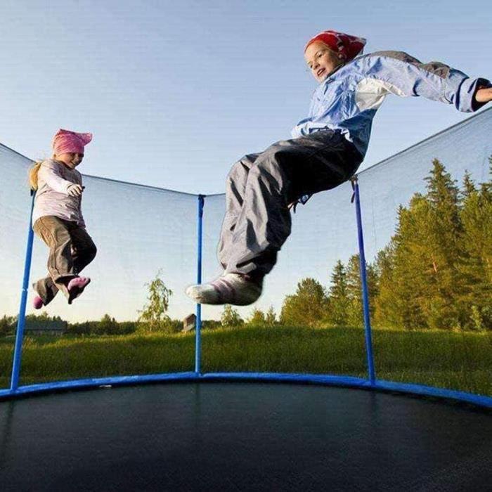 Filet de protection pour trampoline, filet de remplacement pour trampoline de jardin de 10 pi, résistant déchirures, filet seulement