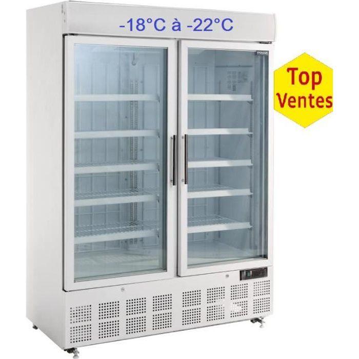 Vitrine réfrigérée négative 2 portes sur roulettes
