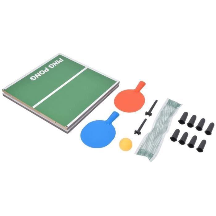 Andraw Valentine's Day Present Jeu de Tennis de Table Pliable Portable, Mini Jouet de Tennis de Table, Mini Jeu de Pong, 1605g[143]