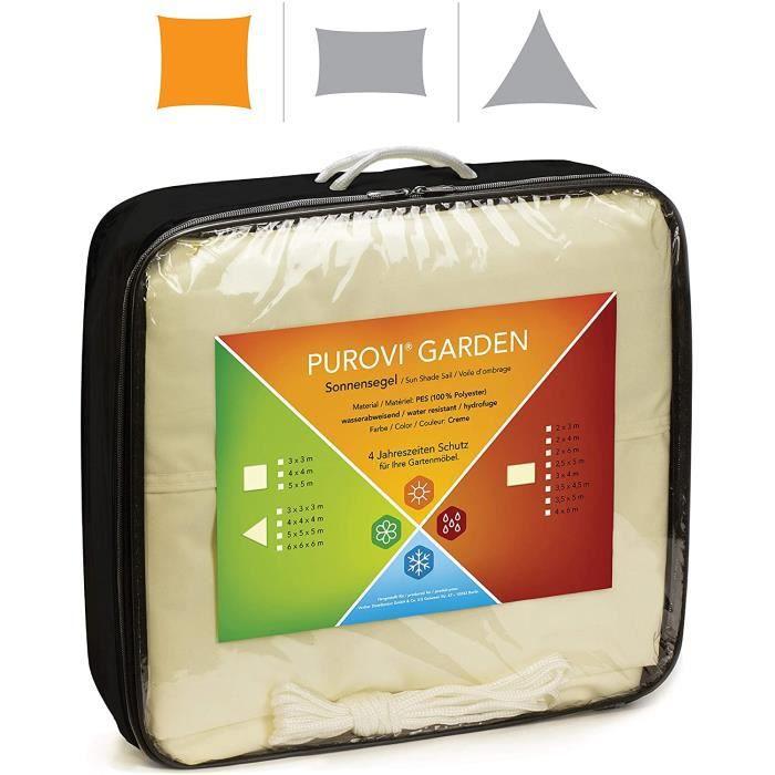 Voile D'Ombrage Carré - Différentes Tailles - Protection Anti-Uv - Pes Imperméable À L'Eau - Taille: 4m X 4m