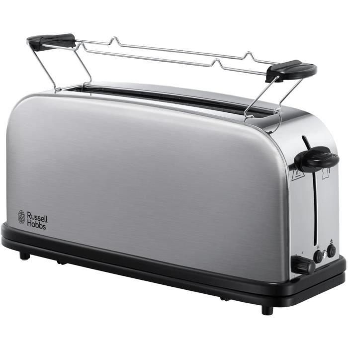 TOASTER Russell Hobbs Toaster GrillePain Fente Large Speacutecial Baguette 6 Niveaux de Brunissage Fonction Deacutecongegravelat2