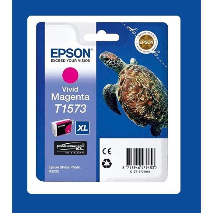 TORTUE T1573 XL VIVID MAGENTA ORIGINE EPSON R3000