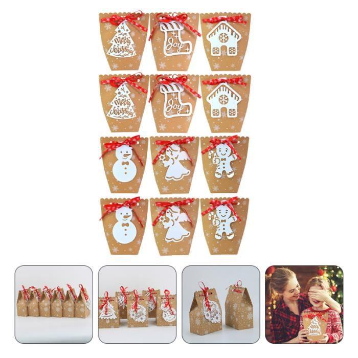 12 Sets Christmas Candy Bags Pouches Boxes bonbons cremeux confiserie chocolat
