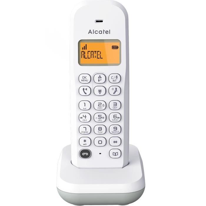 ALCATEL E195 S VOICE gris téléphone mains libres avec répondeur
