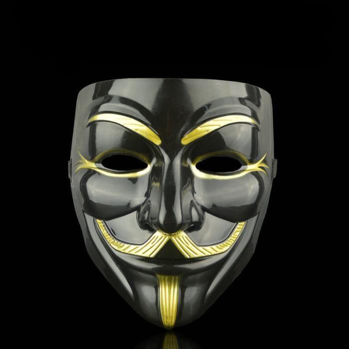 Pirate anonyme V Pour Vendetta Guy Fawkes Déguisement Masque De Visage Noir
