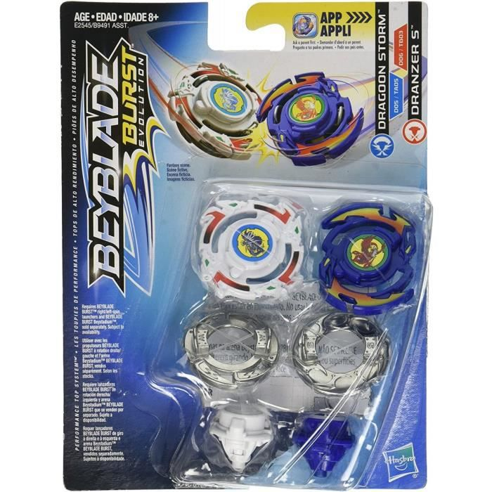 Coffret De 2 Toupies Beyblade Burst Evolustion : Dragoon Storm Type Attaque + Dranzer S Type Equilibre
