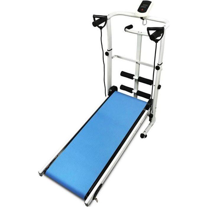 JEOBEST® Tapis de Course Mécanique, Machine de Marche 3 en 1, Torsion + Sit-up + Running + Cadran LED