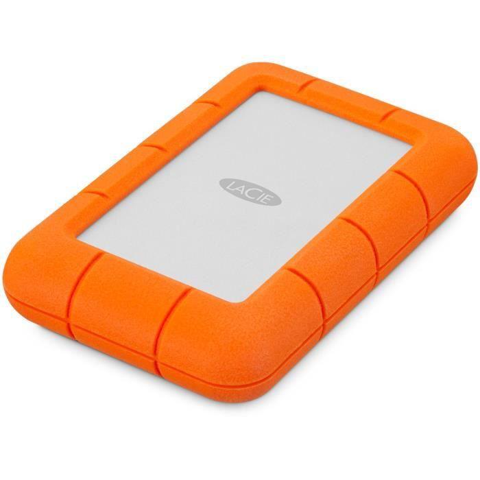 Lacie Rugged Mini 4Tb Usb 3.0 Portable 2.5 inch External Hard Drive for Pc an...