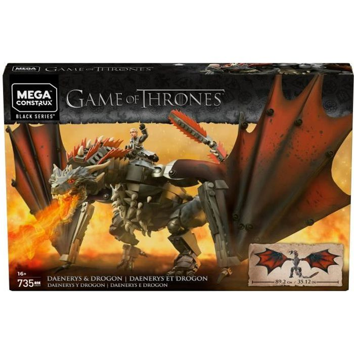 MEGA CONSTRUX Game of Thrones Drogon 50 cm - 735 pièces