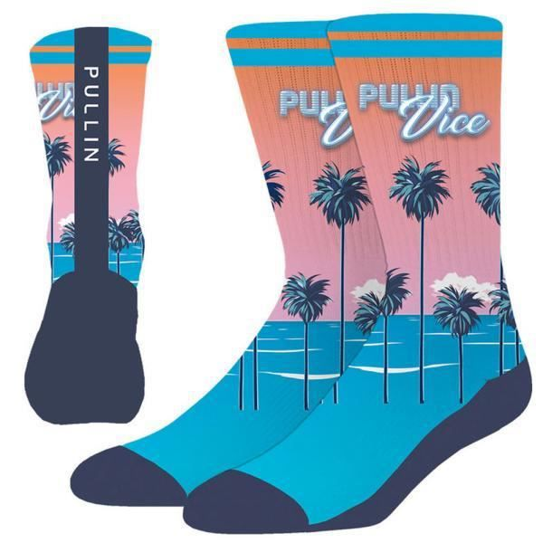 PULL IN Chaussettes Homme Microcoton PULLINVICE Bleu Rose