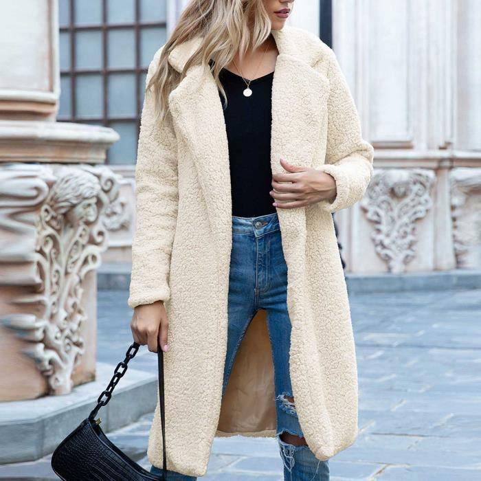 Manteau femme Manteau long d'hiver pour femme Beige