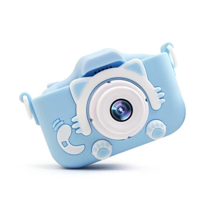 NEUFU Appareil photo enfant avec Jeux - Ecran 2,0 Pouces 1080P - Bleu