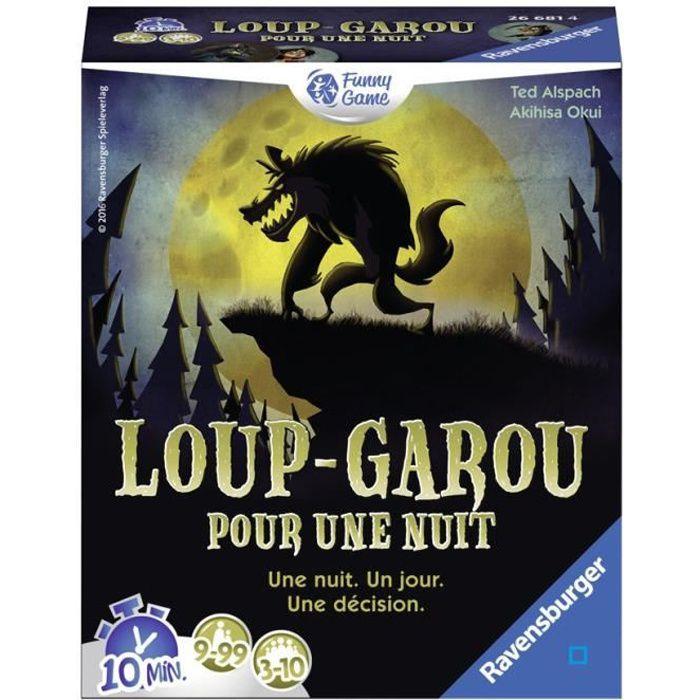 Loup Garou pour une Nuit - Ravensburger - Jeu d'ambiance Enfants et Adultes - Jeu de rôle - 3 à 10 joueurs dès 9 ans