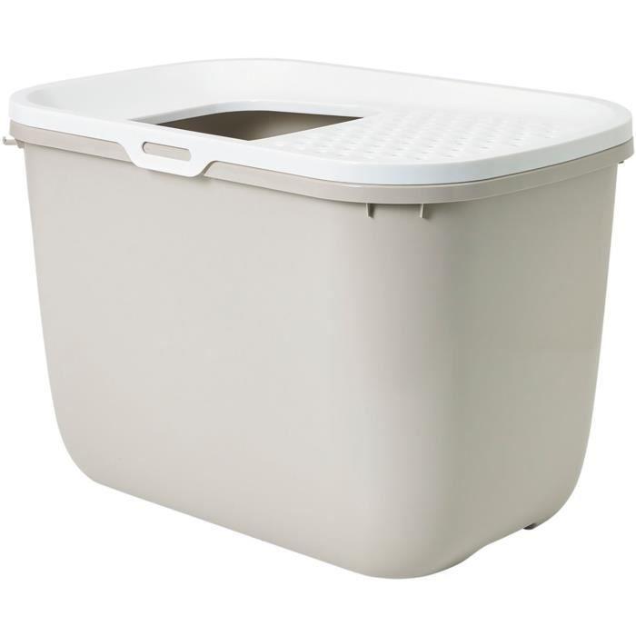 SAVIC Maison de toilette Hop In - 58x39x40cm - Moka - Pour chat