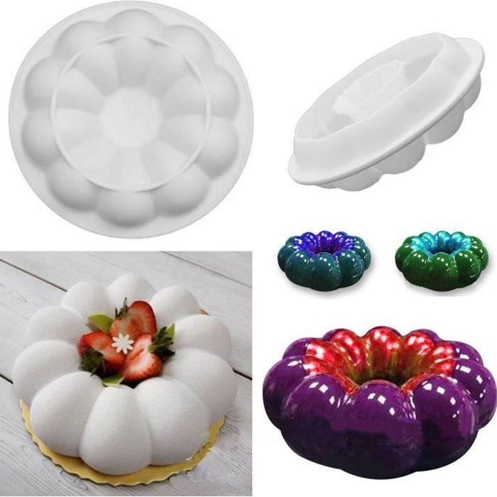 TEMPSA 3D Silicone Fleur Moule à Gâteau Pâtisserie Chocolat Pour Décoration