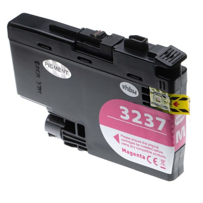 vhbw cartouche d'encre magenta remplace Brother LC-3237M, LC3237M - 18.5ml+ puce