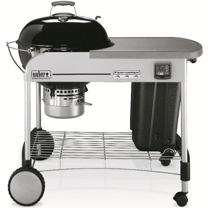 Weber Performer Premium GBS, Barbecue, Charbon de bois, 57 cm, Chariot, Grille, Noir, Gris
