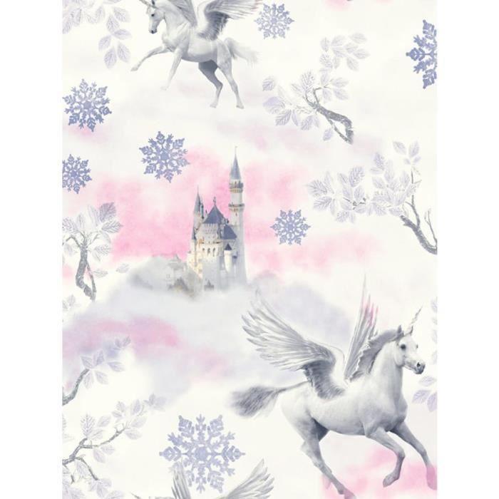 Conte De Fee Licorne Papier Peint Lilas Arthouse 667801
