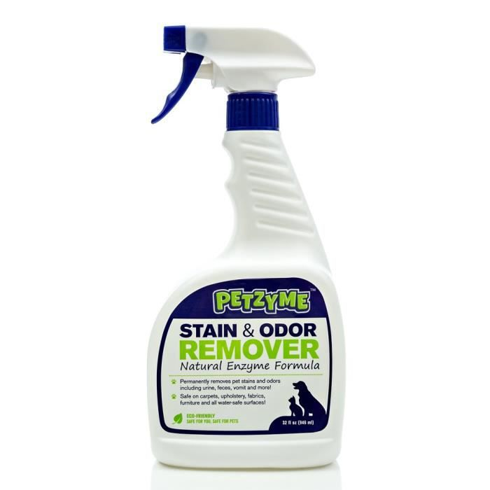 Pet Stain Remover & Odor Eliminator, Enzyme Cleaner For Dogs, Cats Urine, Feces Zg5vq
