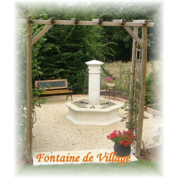 fontaine en pierre reconstitu e village achat vente fontaine de jardin fontaine en pierre. Black Bedroom Furniture Sets. Home Design Ideas