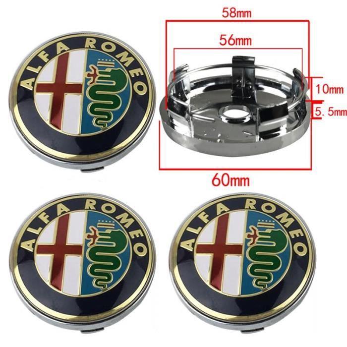 4/x 60/mm Alloy Roues Moyeu Centre Capuchons Renault Gris//Chrome Logo Set de quatre