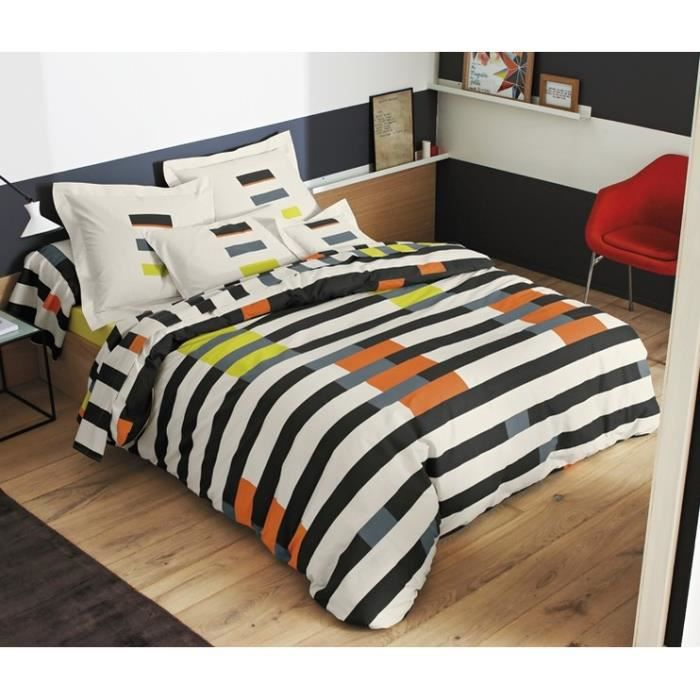 memphis orang taie d oreiller rectangulaire 50x70 achat. Black Bedroom Furniture Sets. Home Design Ideas