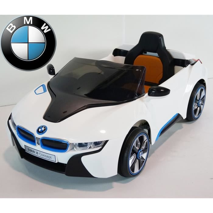 bmw i8 coup blanc voiture lectrique enfant 12v achat. Black Bedroom Furniture Sets. Home Design Ideas