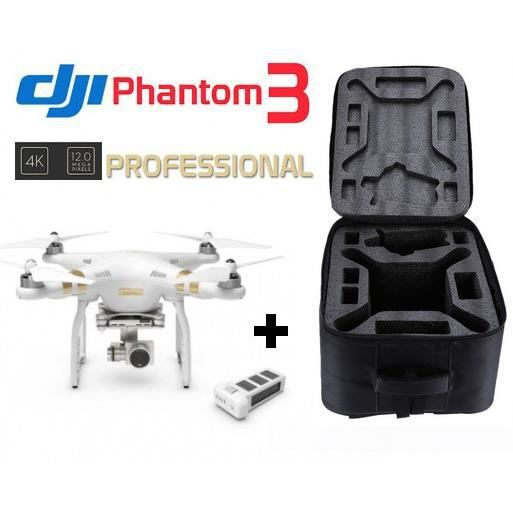 pack drone dji phantom 3 professionnal cam ra 4k 2ieme batterie sac dos dji winup achat. Black Bedroom Furniture Sets. Home Design Ideas