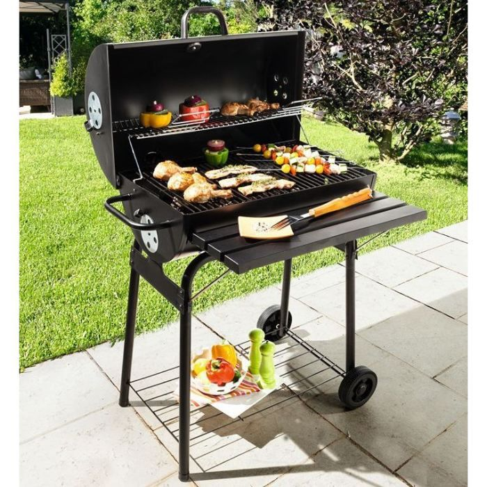 barbecue a charbon baril cardenas achat vente barbecue. Black Bedroom Furniture Sets. Home Design Ideas