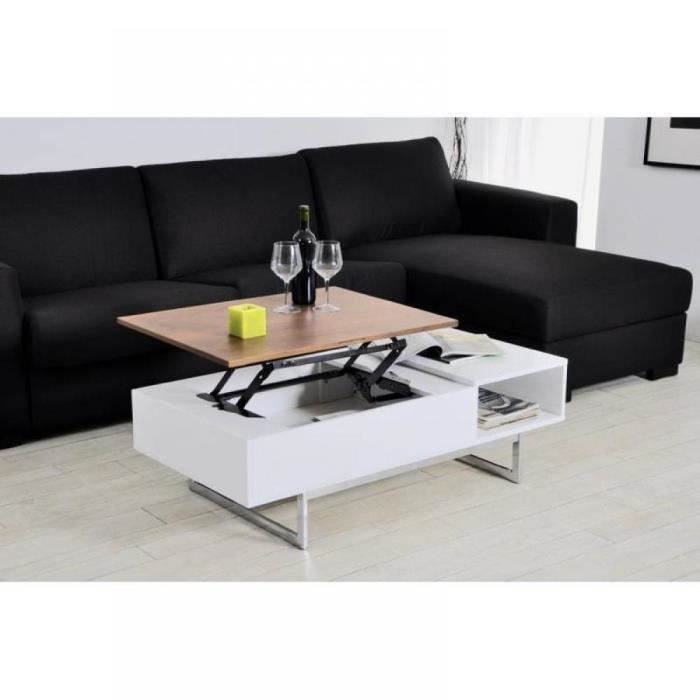 table basse tagg rehaussable avec coffre de ran achat vente table basse table basse tagg. Black Bedroom Furniture Sets. Home Design Ideas