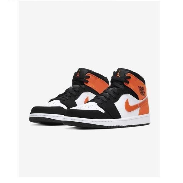 Air Jordans 1 Mid Shattered Backboard Chaussures de Basket Air Jordans One  Pas Cher pour Homme Femme Orange