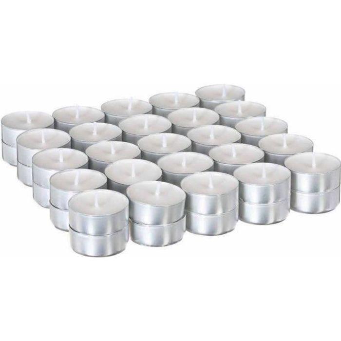 Bolsius Lot de 48 bougies chauffe-plat 8 h