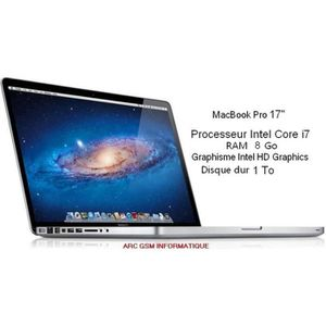 PC RECONDITIONNÉ MacBook Pro 17