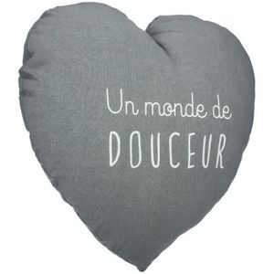 COUSSIN Coussin Coeur - Atmosphera Gris