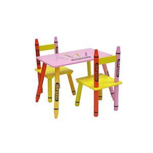 TABLE ET CHAISE Table et Chaises Enfant en Bois - Kiddi Style