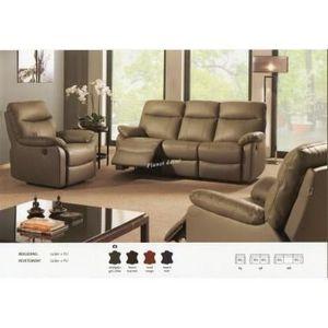Salon cuir 3+2+1 relax modele \