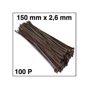 100 Gris Argenté Attaches de câbles 370 mm x 4.8 mm Pack Gratuit De 100, 2.5 x 100 Noir
