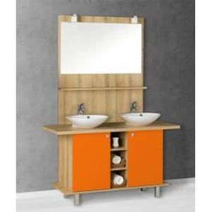 meuble salle de bain orange achat vente meuble salle de bain orange pas cher cdiscount. Black Bedroom Furniture Sets. Home Design Ideas