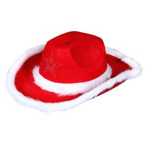 CHAPEAU - PERRUQUE Chapeau de cowboy accessoire de déguisement femme