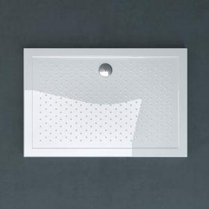 Receveur de douche ultra plat 4cm bac a douche anti-glisse acrilique avec bonde AL02 LUCIA04AR 90X120X4cm