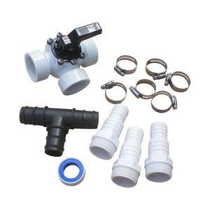 "Embout de tuyau noir ABS 32//38mm x 1 1//2/"" avec O-ring pool Bestway Intex pompe"