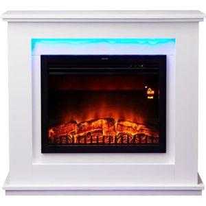 CHEMINÉE Chemin'arte - cheminée électrique 2000w blanc - 18