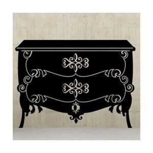 stickers baroque noir achat vente stickers baroque noir pas cher cdiscount. Black Bedroom Furniture Sets. Home Design Ideas