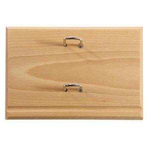 BLOC NOTE Socle pour bloc éphéméride 120x82 en bois luxe chê