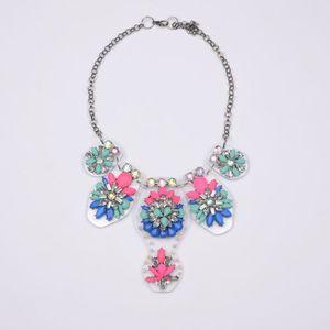 SAUTOIR ET COLLIER ristal arc-en-couleur collier pendentif diamant fl