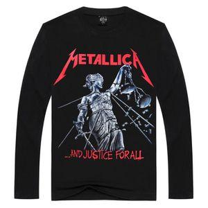 Metallica long-T-shirt manches et Justice pour tous les hommes blanc