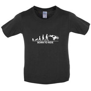 T-SHIRT Dressdown - Born to Moto X - T-Shirt Enfant - Roug