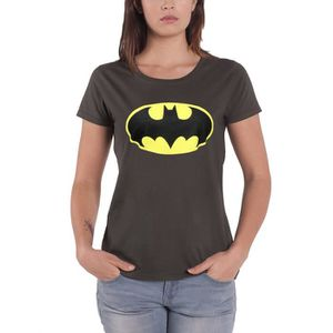 T-SHIRT Batman T Shirt DC Comics Signal Logo officiel Femm