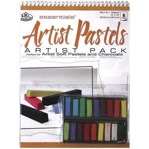 PASTELS - CRAIE D'ART ROYAL & LANGNICKEL RD-509 PACK BLOC PASTELS GRA…