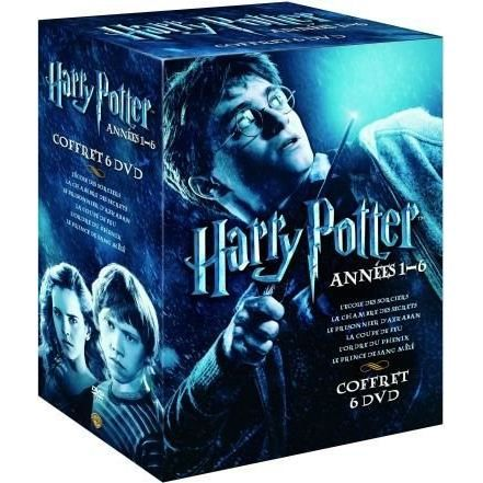 dvd coffret harry potter 1 6 en dvd film pas cher colombus chris cuaron alfonso yates. Black Bedroom Furniture Sets. Home Design Ideas